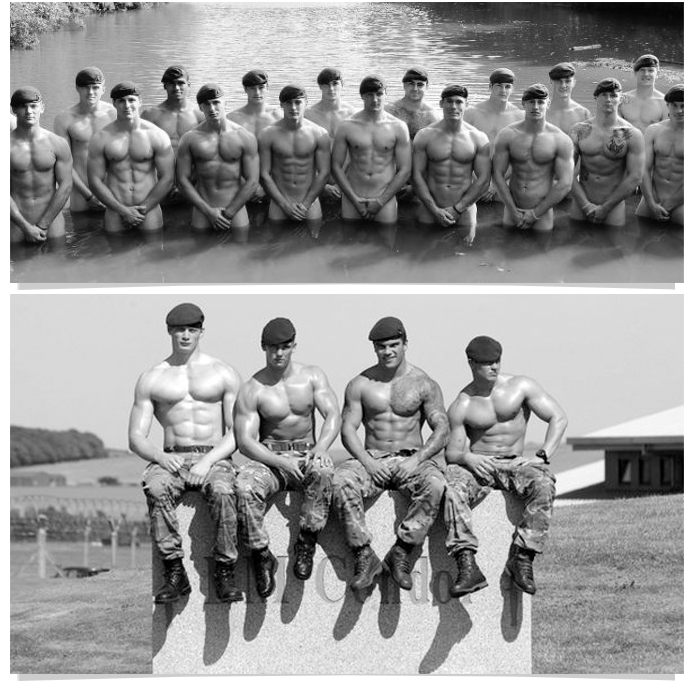 116 Go Commando  like these hot naked UK soldiers!