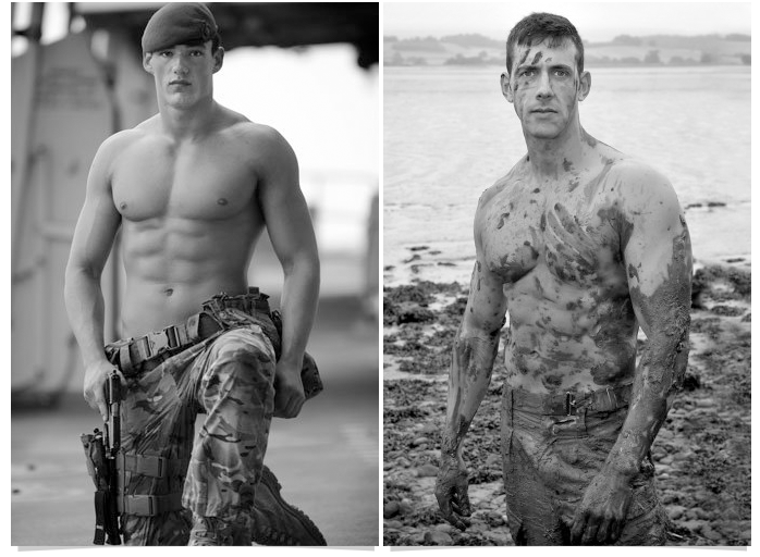 56 Go Commando  like these hot naked UK soldiers!