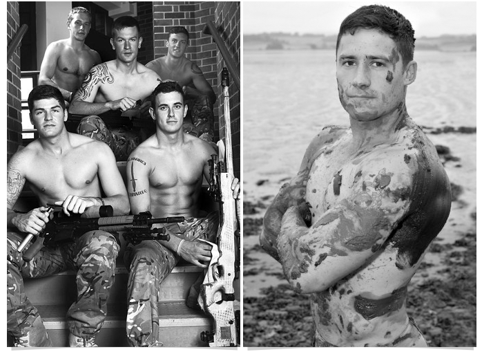 63 Go Commando  like these hot naked UK soldiers!