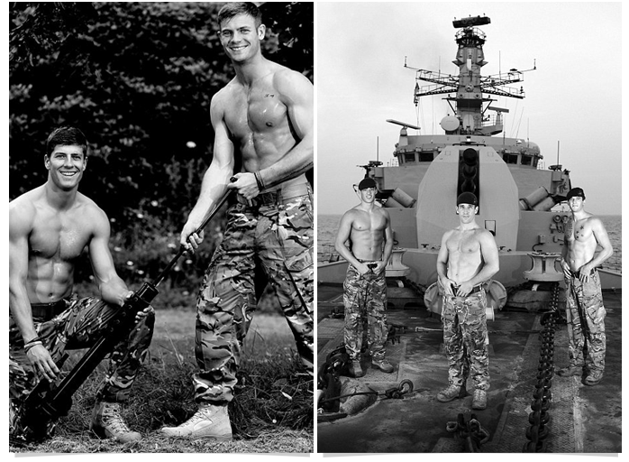 71 Go Commando  like these hot naked UK soldiers!
